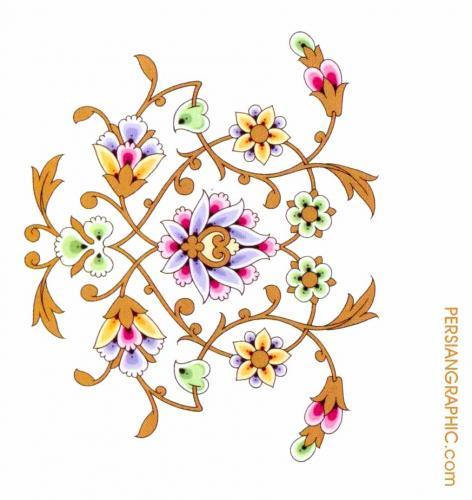 طرح اصلی بته  ماهی برای ویترا Floral Stained Glass