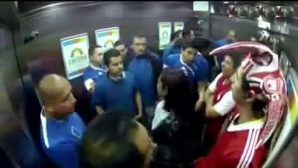 دوربین مخفی هواداران عصبانی دوتیم در اسان